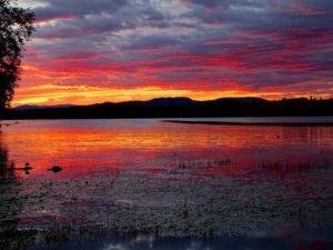 MDFM fiery sunset lake 352